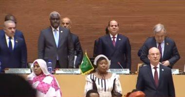 فيديو.. افتتاح السيسي القمة الإفريقية الـ33 بأديس أبابا بنشيد الاتحاد الإفريقى
