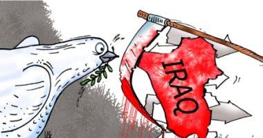 كاريكاتير صحيفة إماراتية.. الموت يخيم على مظاهرات العراق