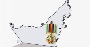 كاريكاتير صحيفة إماراتية.. وسام الشجاعة لصقور الإمارات المخلصين