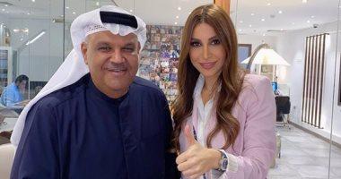 """يارا تظهر مع نبيل شعيل في كواليس تسجيل أوبريت """"صنّاع الأمَل"""".. صورة"""