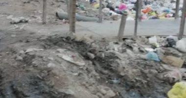 شكوى من انتشار القمامة ومياه الصرف الصحى بمنطقة شبرا الخيمة بالقليوبية