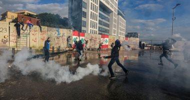 اشتباكات بين الشرطة والمتظاهرين فى لبنان قبل جلسة منحة الثقة للحكومة