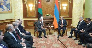 ملك الاردن يبحث مع رئيس الوزراء الأرمينى العلاقات بين البلدين