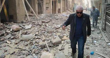 انهيار أجزاء من عقار غرب الإسكندرية دون إصابات