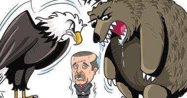 كاريكاتير صحيفة إماراتية.. أردوغان سينهار فى سوريا