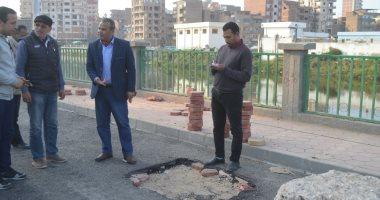 صور.. رئيس مدينة المحلة يتفقد أعمال تطوير مدخل قرية كفر حجازى