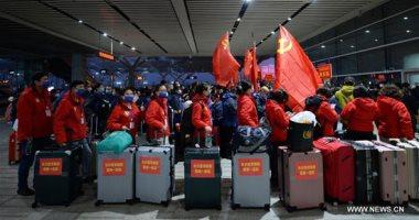 فريق طبى صينى يتوجه لمقاطعة هوبى للمشاركة فى مكافحة فيروس كورونا