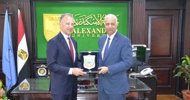 جامعة الإسكندرية تستقبل سفير أمريكا بالقاهرة لمناقشة سبل التعاون الأكاديمى