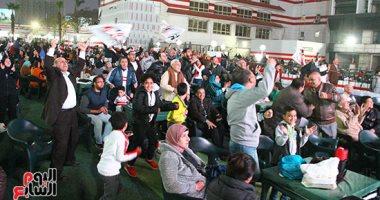 أعضاء الزمالك يتابعون مباراة السوبر الافريقي أمام الترجي