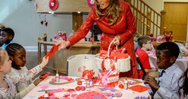 ميلانيا ترامب تزور مستشفى أطفال ميريلاند فى عيد الحب