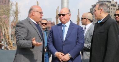 صور.. محافظ القاهرة يتفقد ميدان التحرير ويوجه بسرعة طلاء العقارات