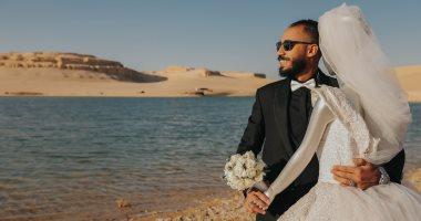 العريس سنجل والعروسة مانيكان.. حكاية أغرب فوتوسيشن زفاف فى عيد الحب.. صور