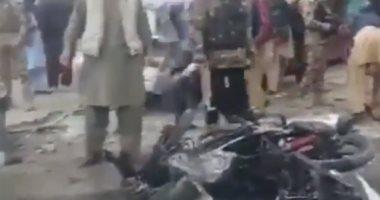 شاهد لحظة التفجير الانتحارى فى أحد أسواق بغداد وسقوط 12 قتيلا
