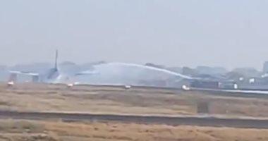 تحطم طائرة مدنية  على طريق للسيارات فى المكسيك.. فيديو