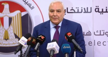 المستشار لاشين إبراهيم رئيس الهيئة الوطنية للانتخابات-أرشيفية