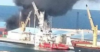 الجيش الليبي يعلن تدمير سفينة أسلحة وذخائر تركية بميناء طرابلس.. صور