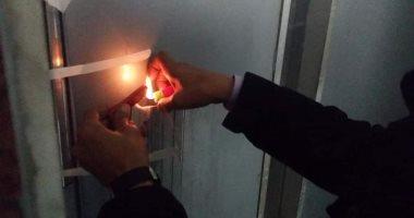 """صور.. تشميع """"الأسانسيرات"""" المخالفة بالسويس بعد مصرع نائب رئيس حزب الحرية"""