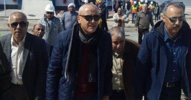 نائب وزير الإسكان يتفقد الأعمال النهائية بمحطة تحلية مياه البحر بمدينة شرق بورسعيد
