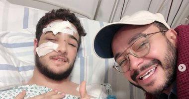 حسام داغر يطمئن جمهوره علي صديقه عاني من كسر في الجمجمة