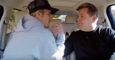 فيديو..شاهد كيف غنى جاستين بيبر أغنيته Yummy مع جيمس كوردن ورقصا معا
