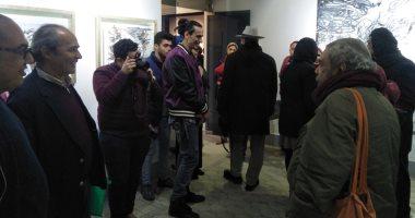 """فنانو مصر يحتفلون بـ معرض """"الفرسان الأربعة"""" في جاليري بهلر.. صور"""
