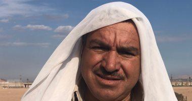 """""""أبو جودة"""" أقدم مشارك فى سباقات الهجن بسيناء"""
