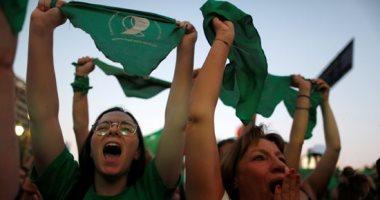 صور.. مظاهرة نسائية أمام الكونجرس الأرجنتينى تدافع عن تقنين الإجهاض