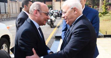 محافظ بورسعيد يستقبل وزير العدل لتفقد الشهر العقارى ومجمع المحاكم(صور)