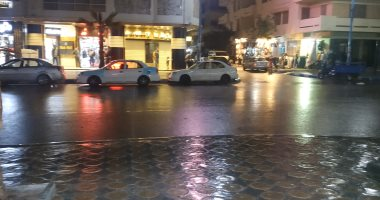 فيديو وصور.. سقوط أمطار خفيفة على مطروح والساحل الشمالى