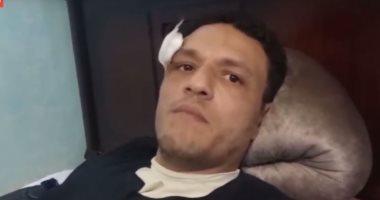فيديو..منجد يكشف كواليس الإعتداء عليه وإلقائه من شرفة منزله بالإسكندرية