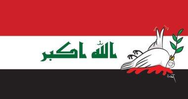 كاريكاتير صحيفة إماراتية.. موت السلام بمظاهرات العراق