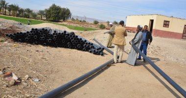 استجابة لـاليوم السابع توصيل المياه لأهالى قرية عزبة بريك بإسنا