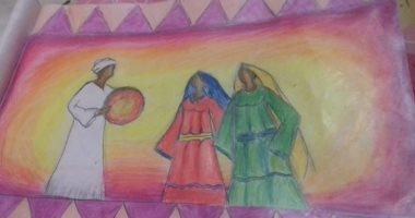 قارئة بالمرحلة الابتدائية تشارك صحافة المواطن برسوماتها الفنية