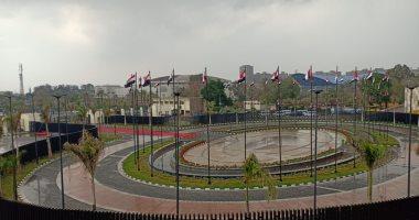 أمطار غزيرة باستاد القاهرة قبل ساعات من قمة الأهلي والزمالك