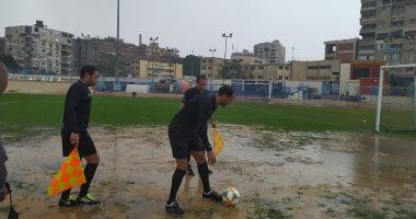 صور.. إلغاء مباراة النصر والنجوم بالقسم الثاني بسبب الأمطار