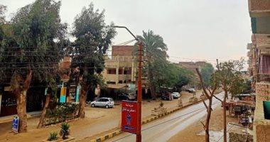 صور.. سقوط أمطار متوسطة وطقس بارد على محافظة بنى سويف