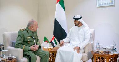 محمد بن زايد يستقبل رئيس أركان الجيش الوطنى الجزائرى