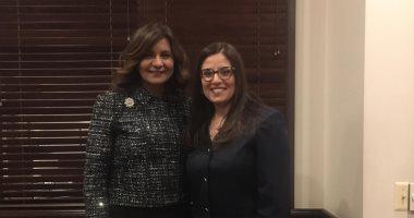 """وزيرة الهجرة تصل """"ميتشجان"""".. وتلتقى أول قاضية مصرية أمريكية"""