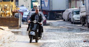 استمرار آثار مياه الأمطار فى شوارع القاهرة والمحافظات