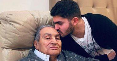 حفيد مبارك فى رسالة مؤثرة لجده: ربنا أطال عمرك لحد ما شفت أعداءك بالسجون