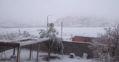 جبال سانت كاترين تتزين بالثلوج للمرة الثانية.. صور