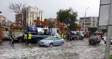 القابضة لمياه الشرب: تم الدفع بـ210 معدات لشفط مياه الأمطار بالقاهرة