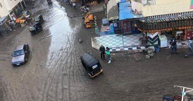 أهالى شارع الريحانى والكنيسة بفيصل يشكون من تراكم مياه الأمطار