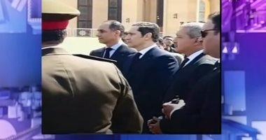 أول ظهور لنجلى الرئيس الراحل علاء وجمال مبارك بعد وفاة والدهما
