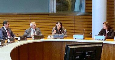 وزيرة التعاون تلتقى المصريين العاملين بالبنك الدولى وصندوق النقد خلال زيارتها لواشنطن