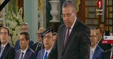 الحكومة التونسية تؤدى اليمين الدستورية أمام الرئيس قيس سعيد