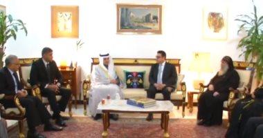 شاهد.. وزير خارجية الكويت يزور السفارة المصرية لتقديم العزاء فى وفاة مبارك