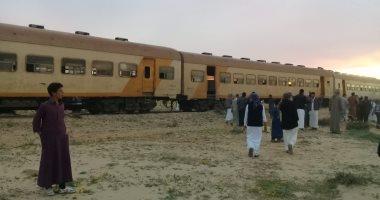 إصابة 24 شخصا فى حادث انقلاب قطار على خط مطروح بسيدى عبد الرحمن