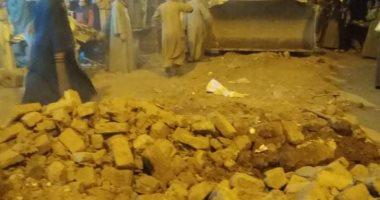 ارتفاع ضحايا انهيار سور مدرسة إلى 3 وفيات بقنا..صور
