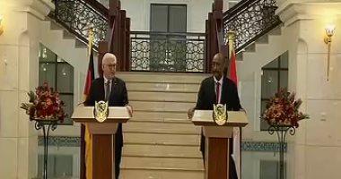 البرهان: بحثت مع الرئيس الألمانى جهود رفع السودان من قائمة دعم الإرهاب